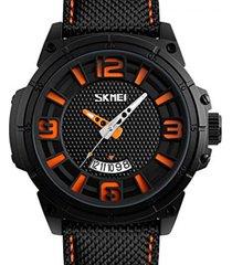 reloj hombre skmei 9170 naranja deportivo