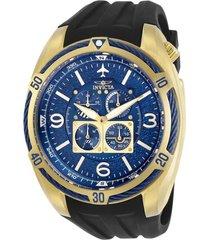 reloj invicta negro modelo 304il para hombres, colección aviator