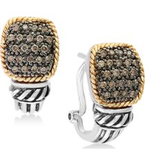balissima by effy diamond pave cluster drop earrings (1/3 ct. t.w.) in sterling silver & 18k gold