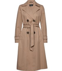coats woven trenchcoat lange jas beige esprit collection