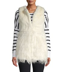 textured faux fur vest
