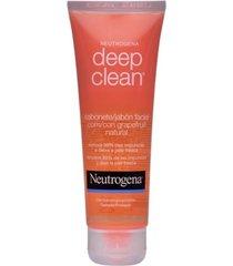 neutrogena deep clean sabonete facial com grapefruit natural 80g