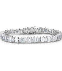 chloe & madison women's sterling silver & crystal tennis bracelet