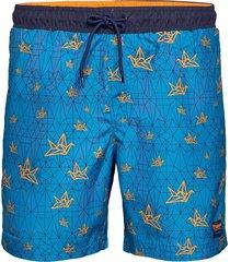 hmlevan board shorts surfshorts blå hummel