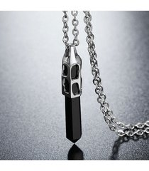 collana in acciaio inossidabile 316l con catena a forma di esagono