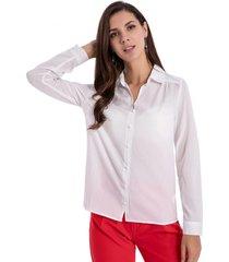 blusa básica botones blanco nicopoly