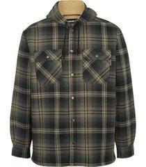 wolverine men's byron hooded shirt jac black plaid, size xxl