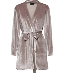 katrina short robe morgonrock beige ow intimates