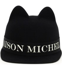 maison michel jamie hat with logo
