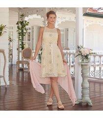 sundance catalog women's ashley charm dress in papyrus 16