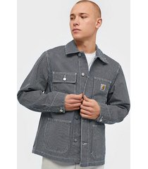 carhartt wip michigan coat jackor blue/white