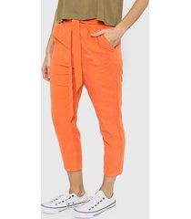 pantalón naranja felisa navagio