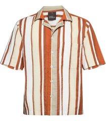 hilmer reg shirt wash kortärmad skjorta orange oscar jacobson