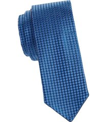 dot print silk tie