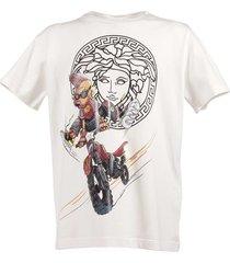 cartoon medusa logo detail t-shirt