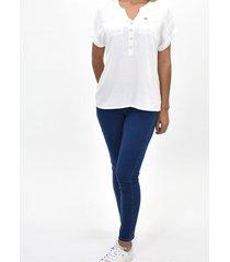 blusa manga rodada bolsillos