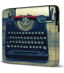 capa para notebook máquina escrever 15.6 e 17 polegadas com bolso - kanui
