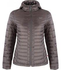chaqueta bewarm steam-pro hoody jacket gris medio lippi