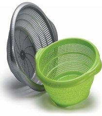 escorredor lava tudo cozinha ideal plástico 26,7x24x10cm