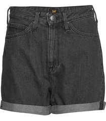 mom short shorts denim shorts svart lee jeans