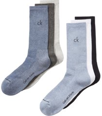 calvin klein men's athletic performance crew socks 6-pack