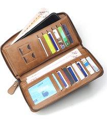 clutch multifunzione per uomo d'affari casual borsa clutch zipper borsa