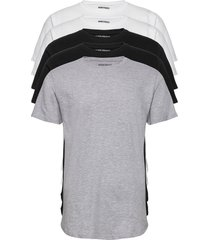 dp longy tee 5 pack t-shirts short-sleeved multi/mönstrad denim project