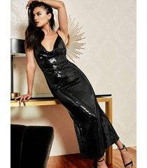 długa cekinowa sukienka marciano