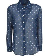 massimo alba polka-dot lace shirt