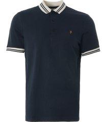 farah stanton ss polo shirt navy f4ksb076-412