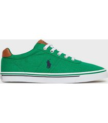 polo ralph lauren hanford sneakers sneakers navy/green