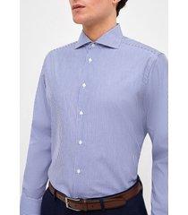 camisa formal listada azul trial