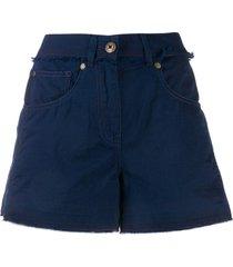 mr & mrs italy mid rise denim shorts - blue