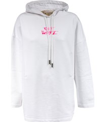 off-white watercolor type oversized hoodie