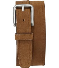 men's trask sutton belt, size 36 - snuff english suede