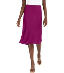 inc petite solid bias-cut midi skirt, created for macy's