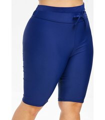 plus size knee length drawstring swim pants