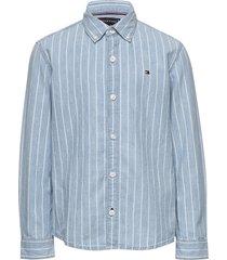 denim stripe shirt l overhemd blauw tommy hilfiger