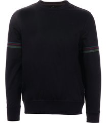 ps by paul smith sports stripe sweatshirt - inky m2r-135t-b20081