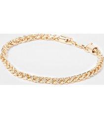 river island mens gold colour chain bracelet