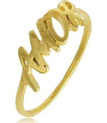 anel amor 3rs semijoias dourado