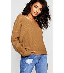 crop twist sweater, camel