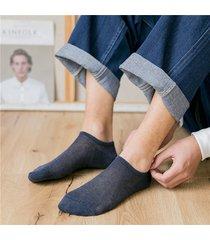 fodera traspirante in cotone sottile da uomo calze solid simple summer soft buona elasticità calze