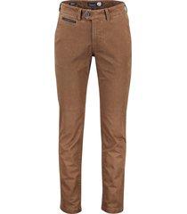 gardeur benny-3 pantalon modern fit donkerbruin