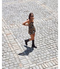 danielle bernstein printed mini slip dress, created for macy's