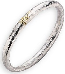 sterling silver & 18k yellow gold bracelet