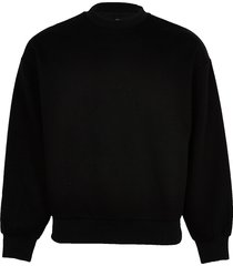 river island mens black oversized long sleeve sweatshirt