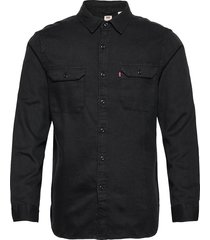 jackson worker black flannel d overhemd casual zwart levi´s men