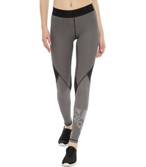 legging adidas performance ask l bos t gris - calce ajustado