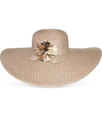 nine west packable classic braid super floppy hat